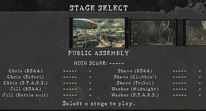 Select Stage To Fight In