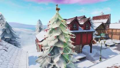 Dance In Front Of Holiday Trees - 14 Days of Fortnite Challenge