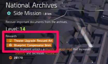 Locate & Finish Side Missions With Upgrade Rewards