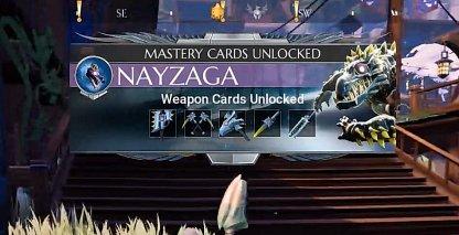 Unlock Weapon & Armor Mastery Card