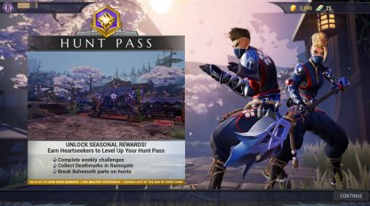 Gain Exclusive Rewards With The Hunt Pass