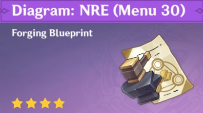 Blueprint In Precious Item Menu