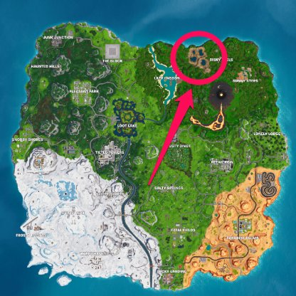 4 Hotsprings - West of Risky Reels map