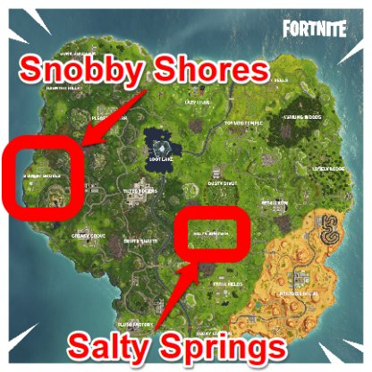 Visit Snobby Shores And Salty Springs In A Single Match