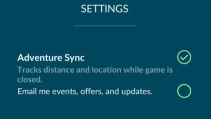 Pokemon Go How to Turn On Adventure Sync