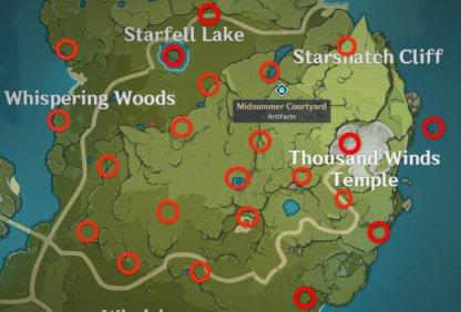 Starfell Map Meteorite location