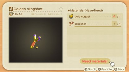 golden slingshot