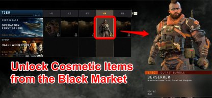 Oct. 26 Update - Unlock Cosmetic Items From The Black Market
