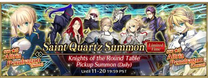 Knights of the Round Table Pickup Summon Banner