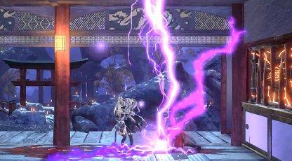 Lighting Jump Slam Has Vertical Streaks