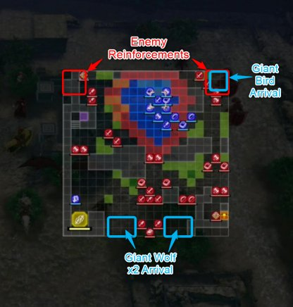 Besieged In The Chapel Ruins reinforcements  Map