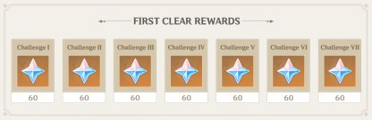 First Clear Rewards