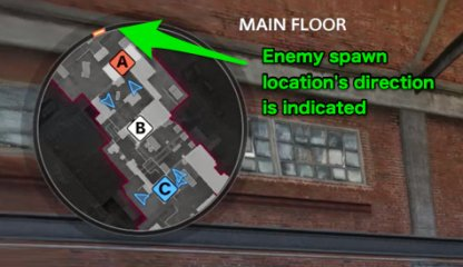 enemy spawn is indicated
