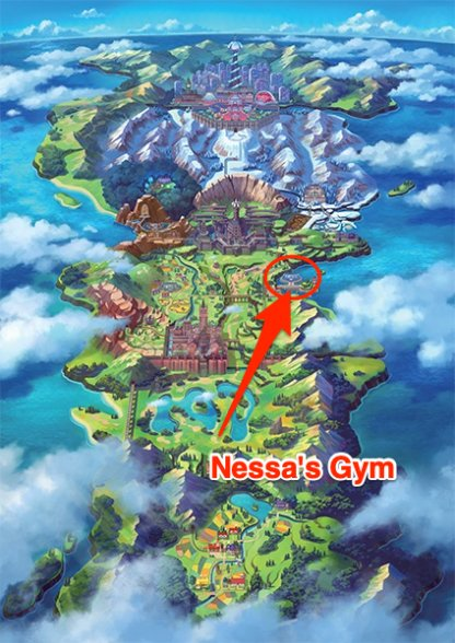 Nessa Gym Location
