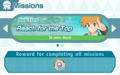 Reach for the Top Event Missions