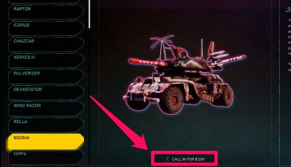 Call In Vehicles For In-Game Money