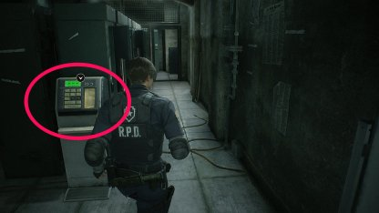 Resident Evil 2 Demo Safety Deposit Room Locker