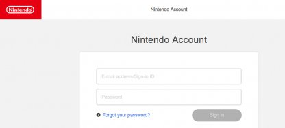 Log In With Your Nintendo Account