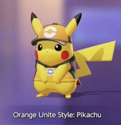 Orange Unite Style Pikachu
