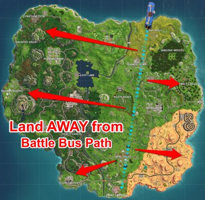 Check The Battle Bus Path
