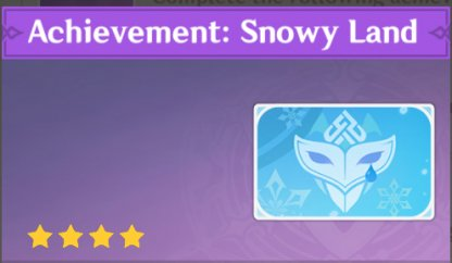 Complete To Get Achievement: Snowy Land Namecard