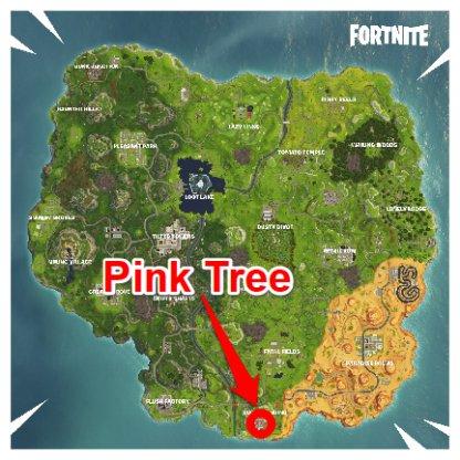 Fortnite Lucky Landing Pink Tree