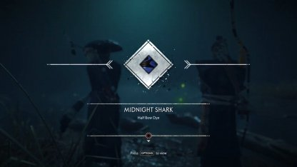 Midnight Shark Half Bow Dye