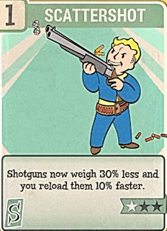 Fallout 76 Perk Card Strength Scattershot