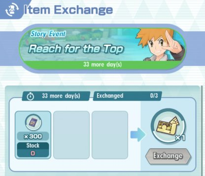 Exchange Voucher A Items at the Shop