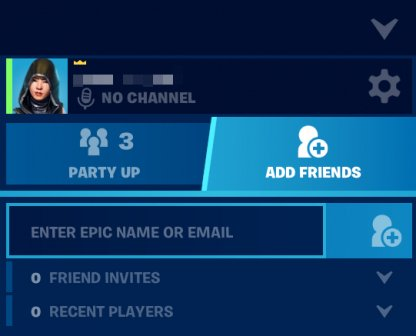 Add Friends Via Email or Epic Games IGN