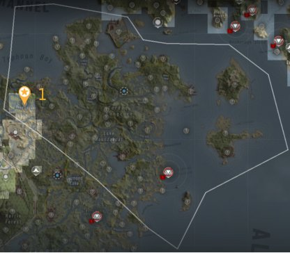 Intel & Bivouac Locations - Sinking Country