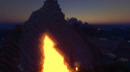 Lava on mountain