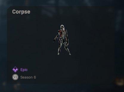 Corpse Spray Loot