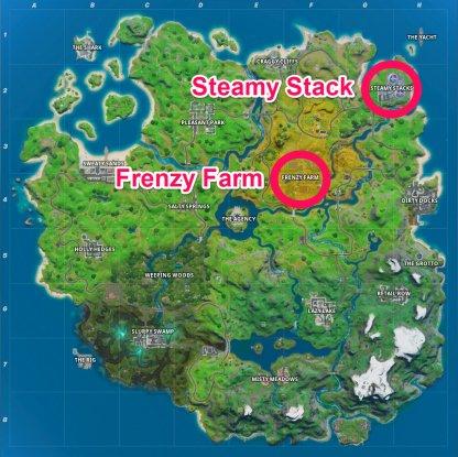 Frenzy Farm / Steamy Stacks Chest Locations