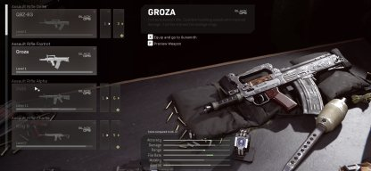 Groza in Warzone