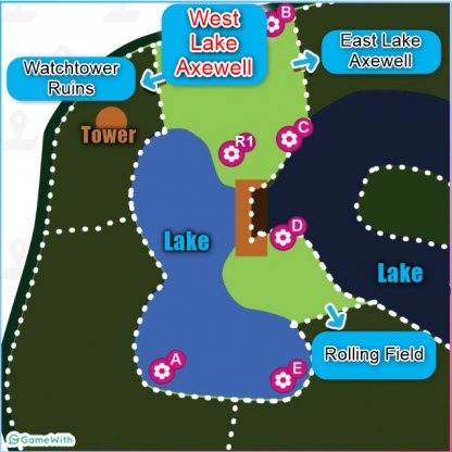 West Lake Axewell Den Location map
