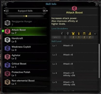 Boost Attack Power & Affinity