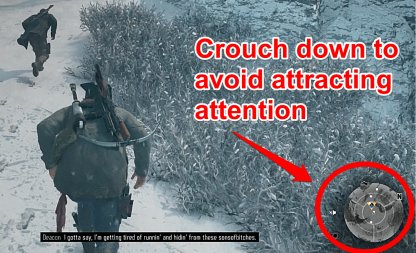 Crouch Down To Avoid Attracting Horde