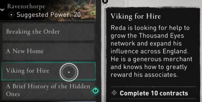 Required to Complete Viking For Hire