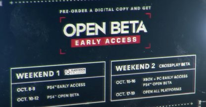 Open Beta Schedule