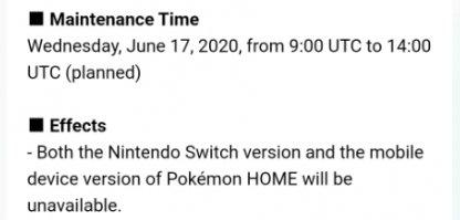 After Pokemon Home Maintenance
