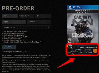 Pre-Order Call of Duty: Modern Warfare