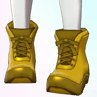 gold hiking boots