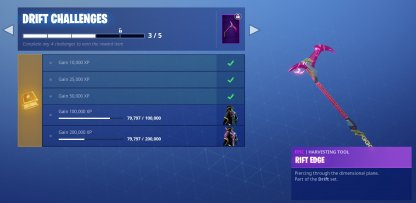 Reward for Skin-Specific Challenges