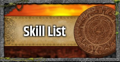 All Skill List & Effect