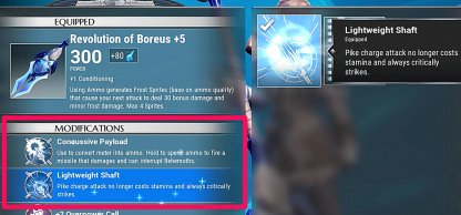 Change Weapon Specials & Mods