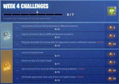 Season 6 Week 4 Challenges