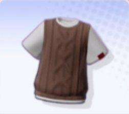 Layered Knit Vest (Mocha)