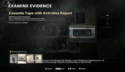 Cassette Tape With Activities Report