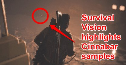Use Survival Vision To Highlight Cinnabar Samples